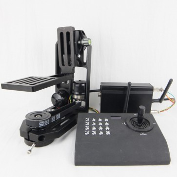 PT-0ST&WL500 ultra quiet motorized pan tilt head with stepper motors withcontroller for BMCC,DSLR,GH4,BMD