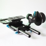FREE SHIPPING: Special offer for stocked item manual follow focus with 15mm rods and stand for DSLR