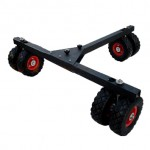 D-3 3-doubled-wheel rubber dolly for camera jib bearing 400 kg