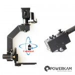 PowerKam PT-1S&EZ2020U (C mounting) small pan tilt  head with 2 HD SDI slip rings for unlimited rotation