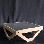 wooden stage table with stainless steel mesh with 3mm holes for stop motion animation