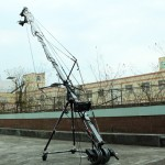 PowerKam TJ-560 560cm/18 ft light-weight travel jib arm with motorized pan tilt head for max 5 loading