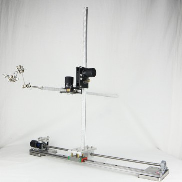 Desktop slider and winder rig system for stop motion animation